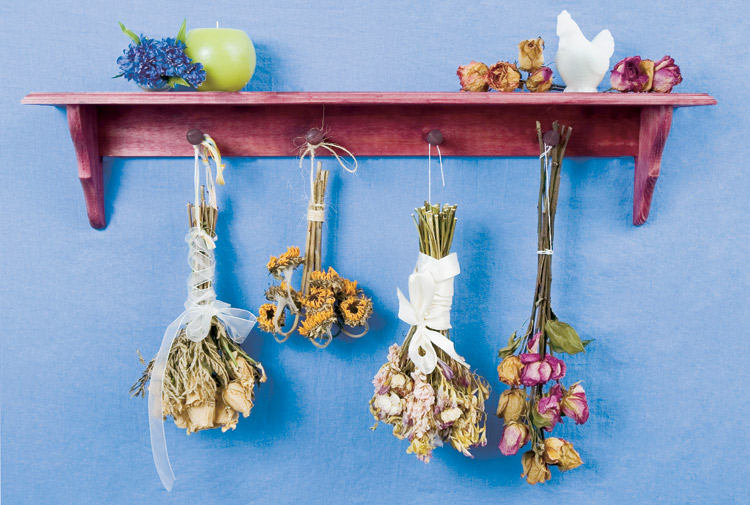 How to dry, preserve fresh flowers