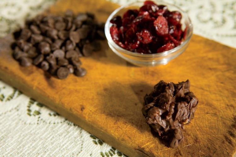 Chocolate Fruit and Nut Clusters recipe