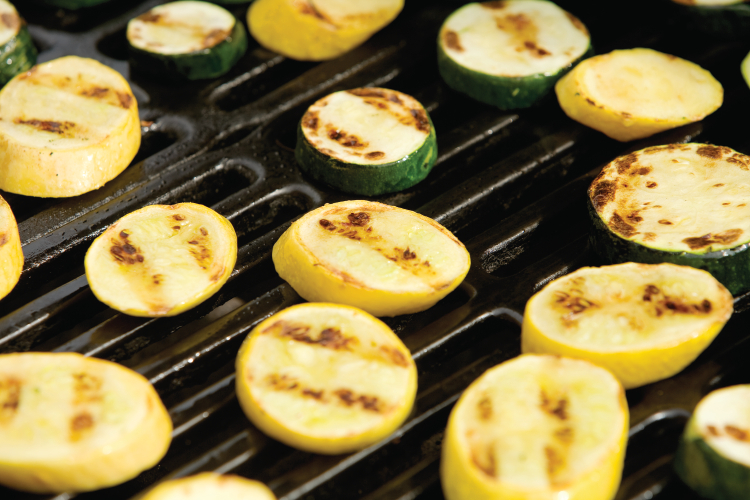 Grilled summer squash and zucchini