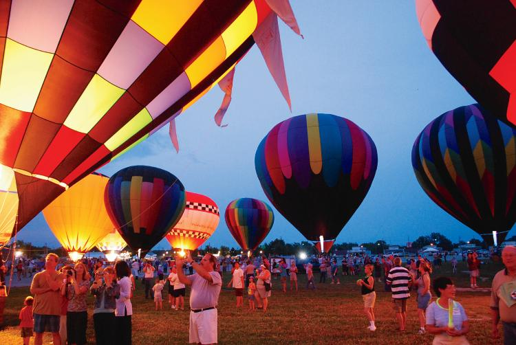 Balloon Night Glow at Indiana State Fair