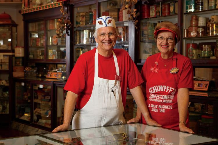 Schimpff's Confectionery, Jeffersonville, Indiana - Warren and Jill Schimpff
