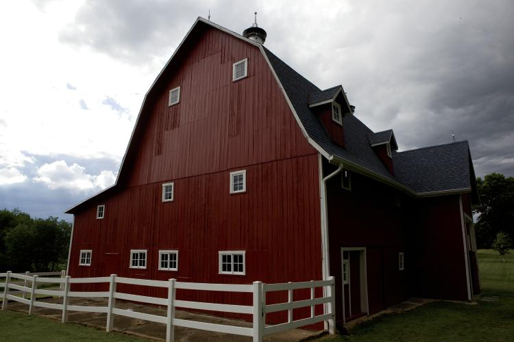 Renovated historic red barn in Cass County Indiana