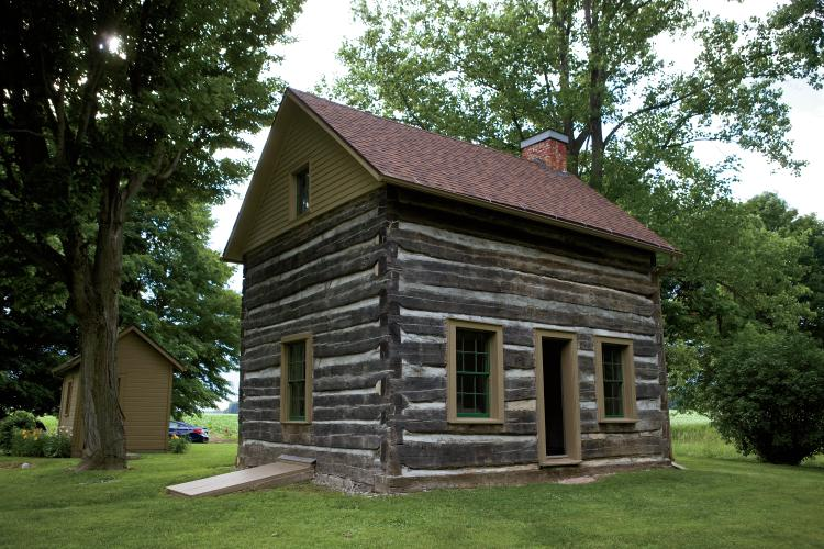 Renovated historic 1850s cabin in Cass County Indiana