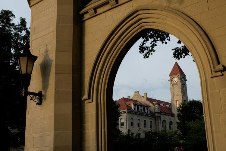 The Sample Gates on Indiana University campus in Bloomington, IN