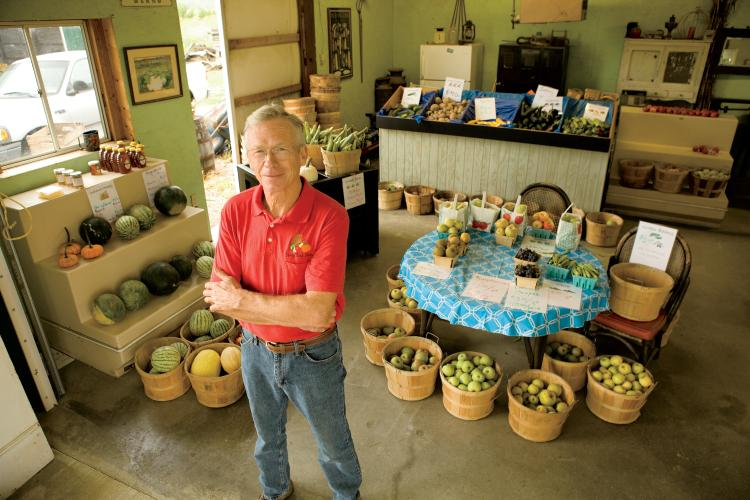 Steve Fouts grows melons and cantaloupes at Berry Best Farm in Indiana