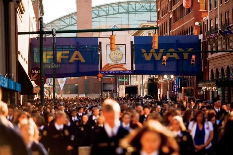 FFA Way in Indianapolis during the National FFA Convention