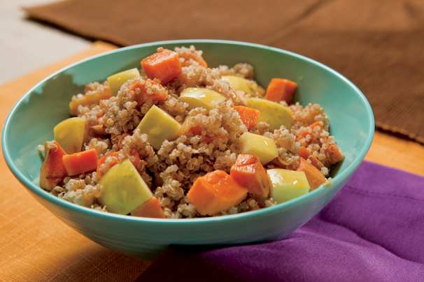 Cinnamon Spiced Quinoa with Apples and Sweet Potatoes Recipe