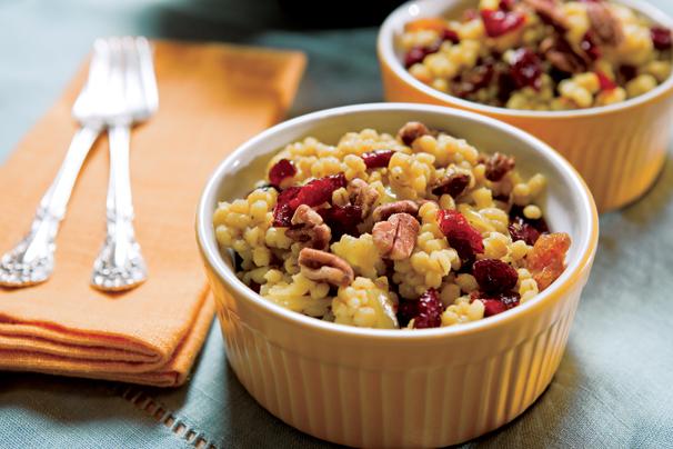 Barley Recipes; Cranberry Recipes; Raisin Recipes; Pecan Recipes; Curried Barley; Cranberries; Raisins, Pecans