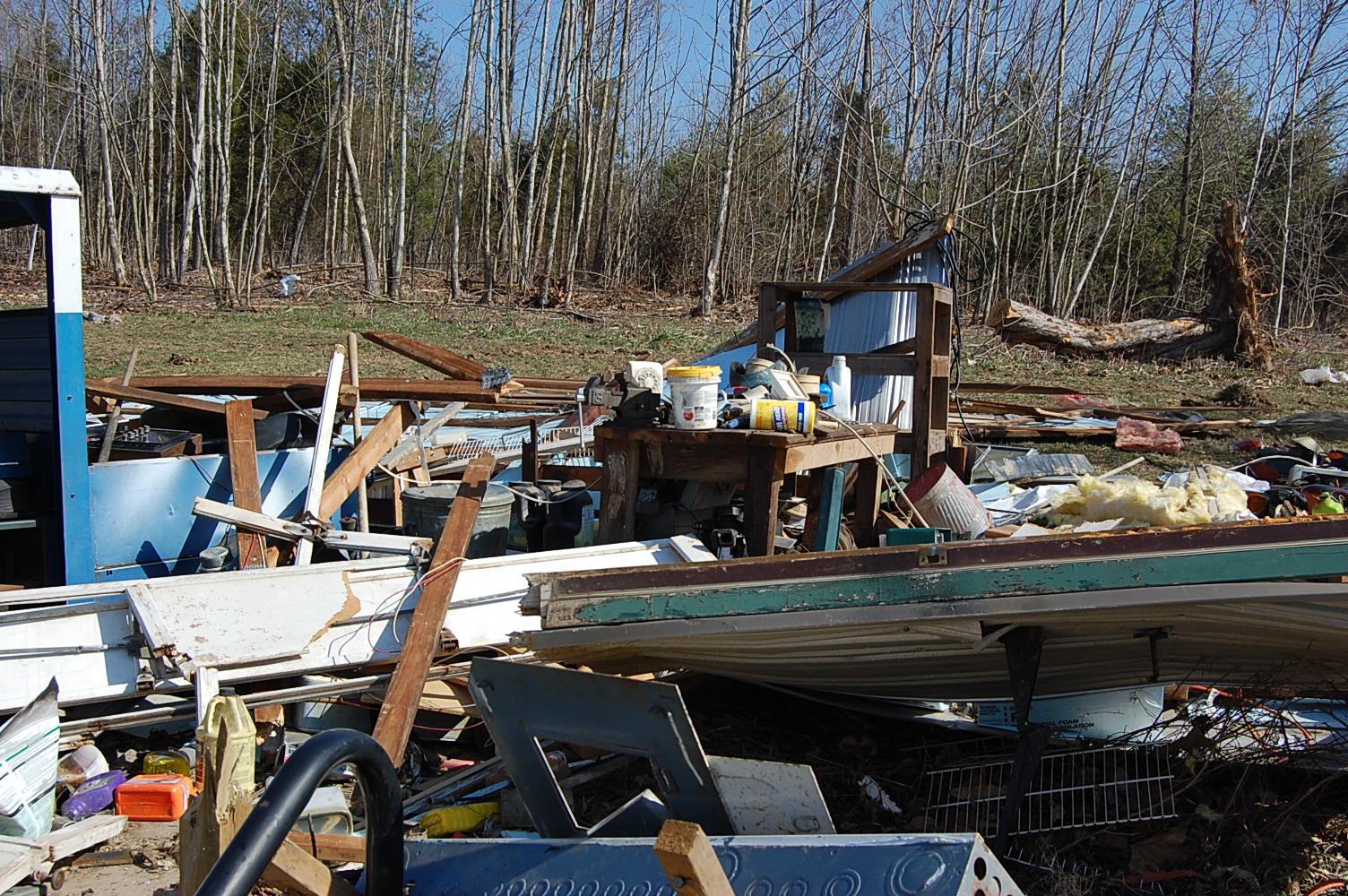 Tornado destruction in Henryville, Indiana