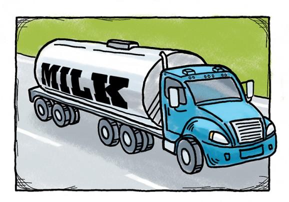 milk truck graphic