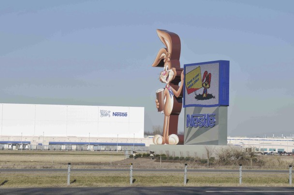 Nesquik bunny sign in Anderson, Indiana