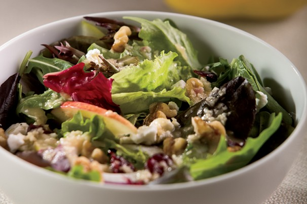 Mixed Greens and Harvest Fruit Salad