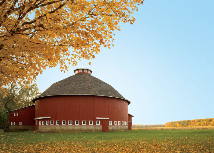 Fulton county round barns preserve history for Barn house indiana