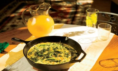 Brunch Recipes, Asparagus, Spinach & White Cheddar Frittata, Orange Juice