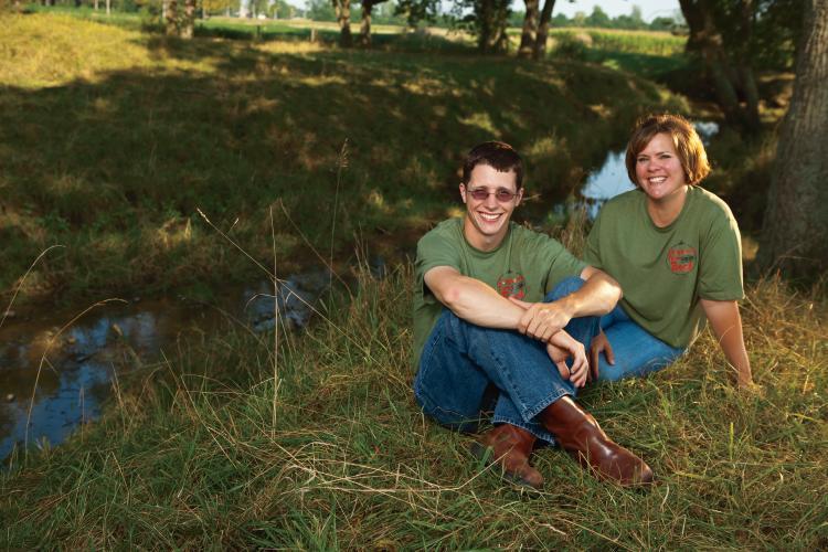 Abby Nichols and Zach Dougherty, Dougherty Farm Fresh Beef in Franklin, Indiana