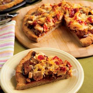 BBQ Chicken Apple Pizza recipe