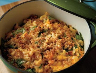 Macaroni and Cheese with Spinach and Sun-Dried Tomatoes