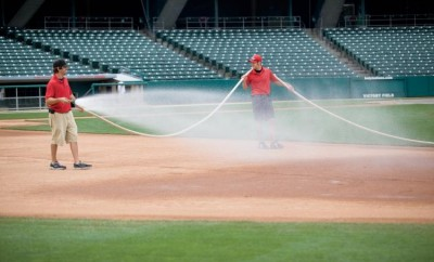 Joey Stevenson and Nick Averitt at Victory Field in downtown Indianapolis, IN