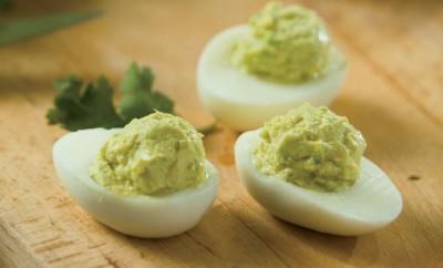 Avocado Lime Deviled Eggs