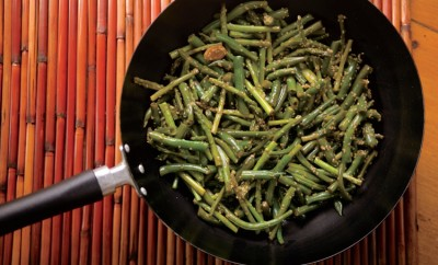 Sesame Green Beans and Asparagus