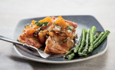 Skillet Salmon with Zesty Peach Chutney